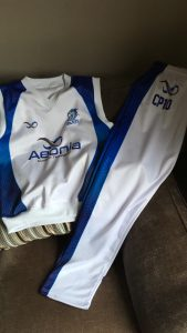 Sublimated cricket kit with personalisation